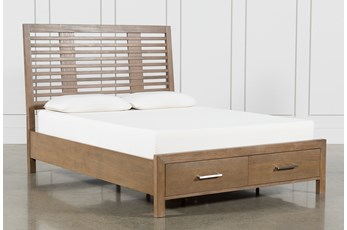 Kevin Eastern King Panel Bed With Storage