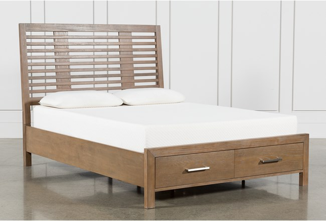 Kevin Eastern King Panel Bed With Storage - 360