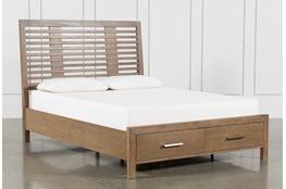 Kevin California King Panel Bed With Storage