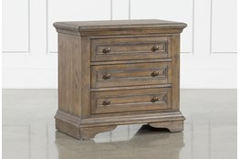 "Chapman 3 Drawer 30"" Nightstand With USB"