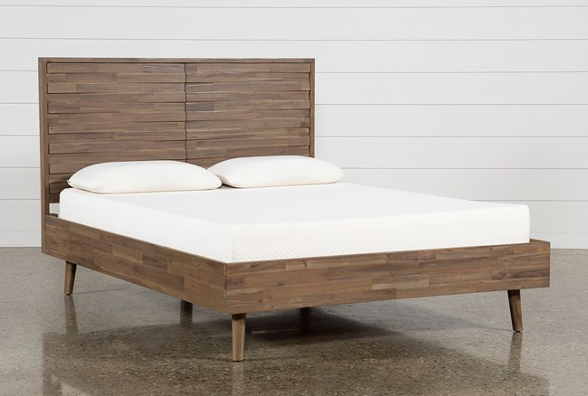 Caleb California King Platform Bed - 360