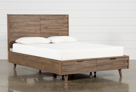 Caleb Eastern King Platform Bed With Storage