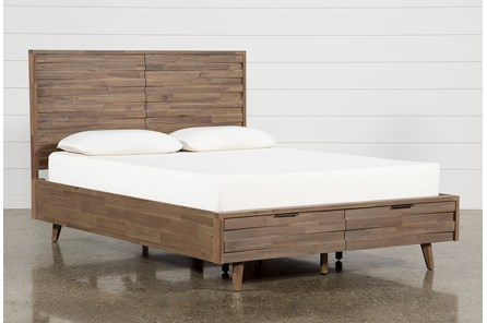 Caleb Queen Platform Bed With Storage - Main