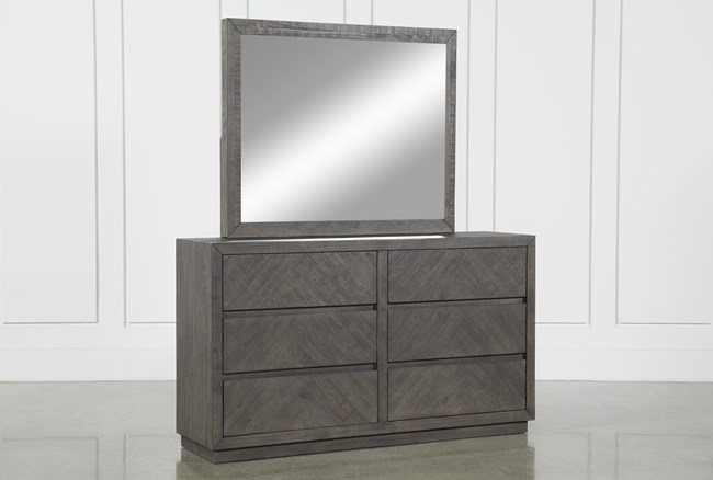 Harrison Charcoal Dresser and Mirror Set - 360