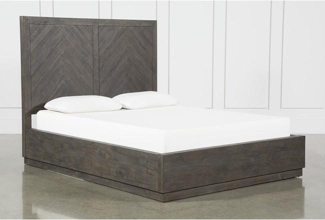 Harrison Charcoal Queen Platform Bed - 360