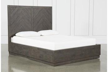 Harrison Charcoal Eastern King Platform Bed