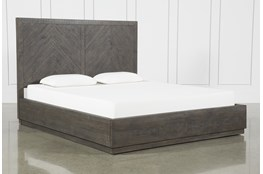 Harrison Charcoal Queen Platform Bed With Storage