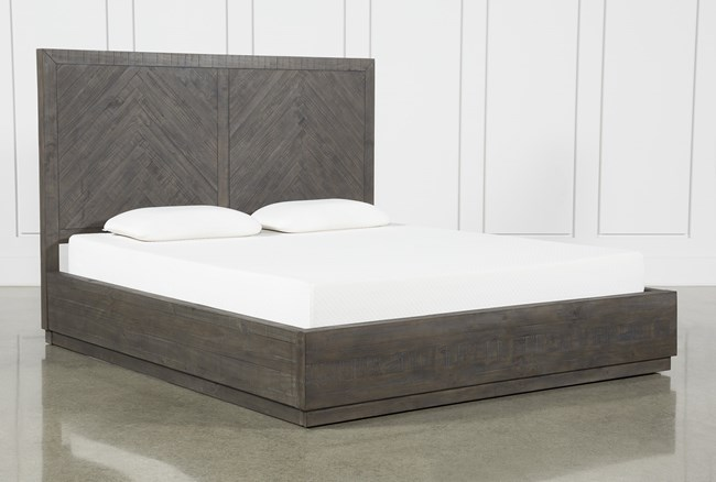 Harrison Charcoal Queen Platform Bed With Storage - 360