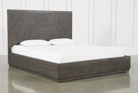 Harrison Charcoal California King Platform Bed With Storage