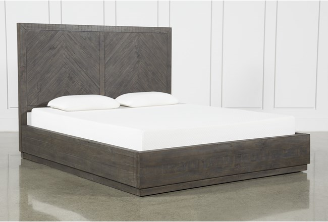 Harrison Charcoal California King Platform Bed With Storage - 360