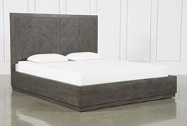 Harrison Charcoal Eastern King Platform Bed With Storage