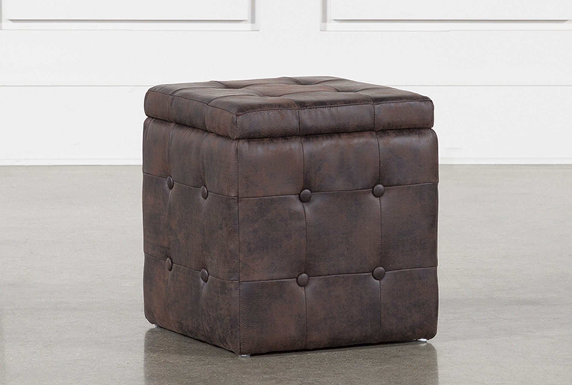 2 Piece Set Coffee Upholstered Storage Cube (Qty: 1) Has Been Successfully  Added To Your Cart.
