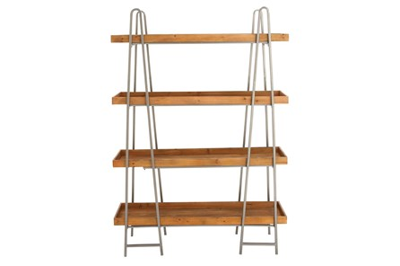 Tier Wood And Metal Bookcase - Main