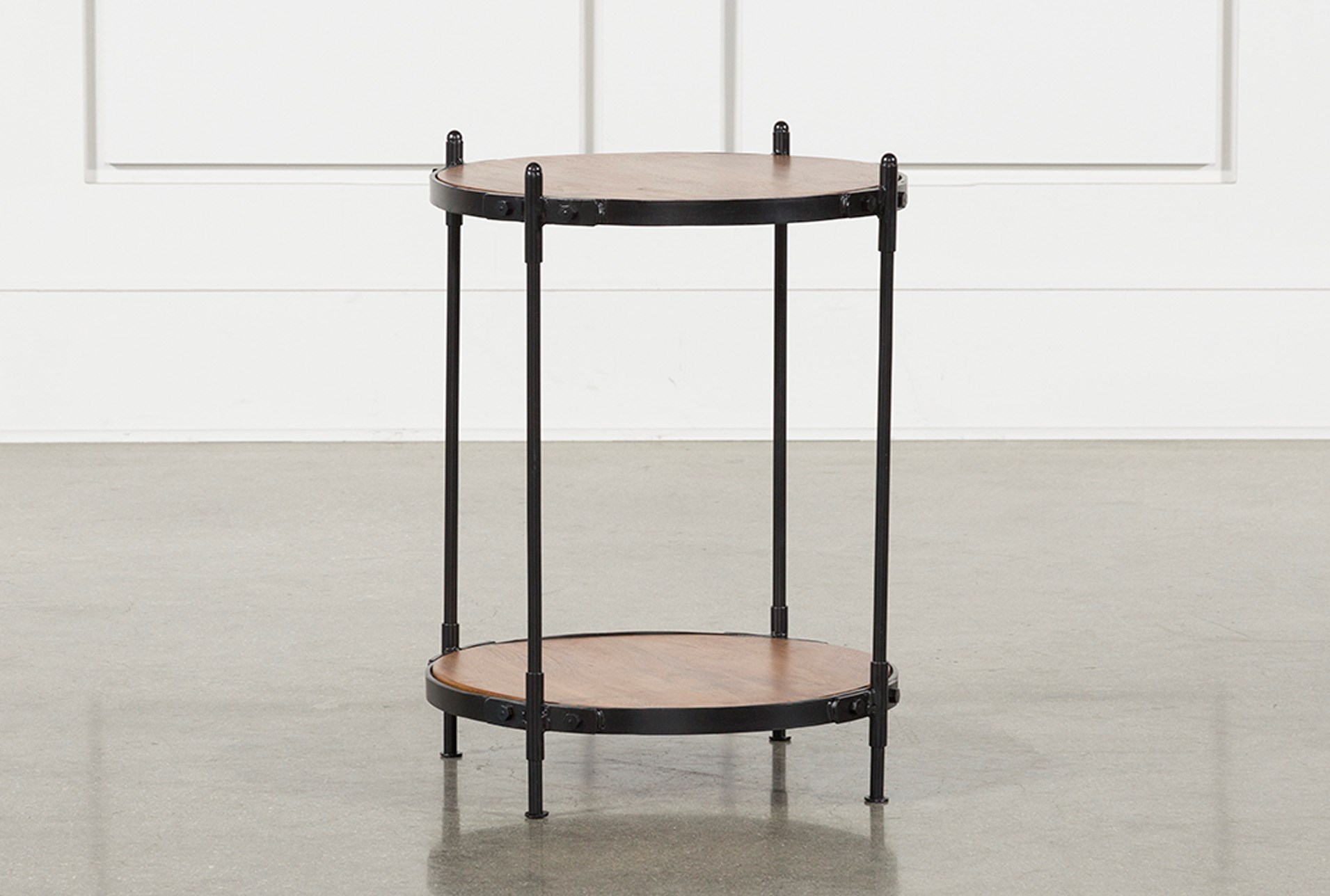 Tier Wood And Metal Accent Table Qty 1 Has Been Successfully Added To Your Cart