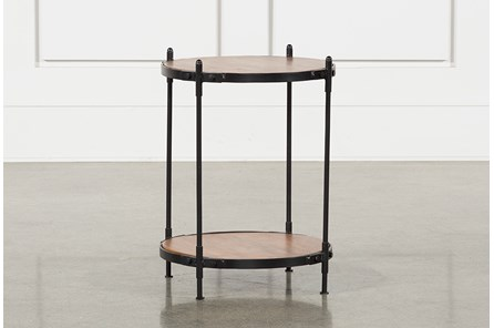 Tier Wood And Metal Accent Table - Main