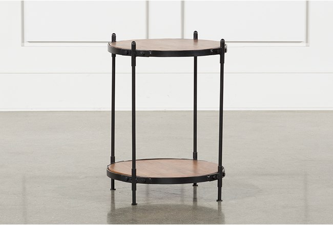Tier Wood And Metal Accent Table - 360