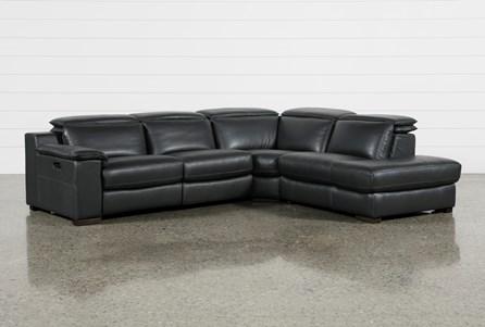 Hana Slate Leather 3 Piece 113