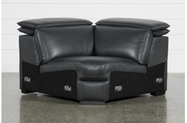 Hana Slate Leather Corner Wedge With 2 Position Headrests