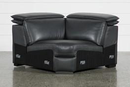 Hana Slate Leather Corner Wedge With 2 Position Headrests