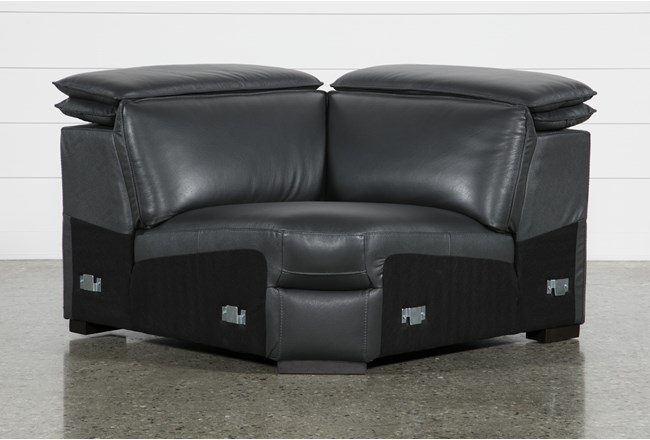 Hana Slate Leather Corner Wedge With 2 Position Headrests - 360