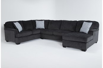 Calvin Slate 3 Piece Sectional with Right Arm Facing Chaise