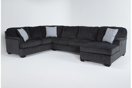 Calvin Slate 3 Piece Sectional with Right Arm Facing Chaise - Main