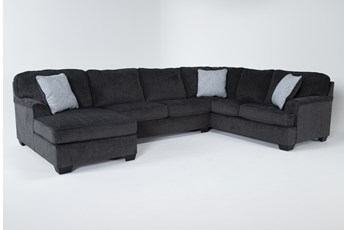 Calvin Slate 3 Piece Sectional with Left Arm Facing Chaise