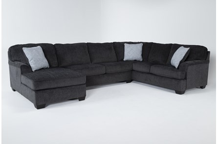 Calvin Slate 3 Piece Sectional with Left Arm Facing Chaise - Main