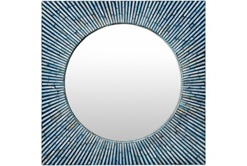 Mirror-Mother Of Pearl Sunburst 24X24