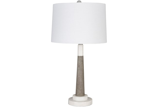 Table Lamp-Stone And Marble Mix - 360