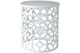 White Perforated Stool