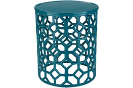 Teal Perforated Stool