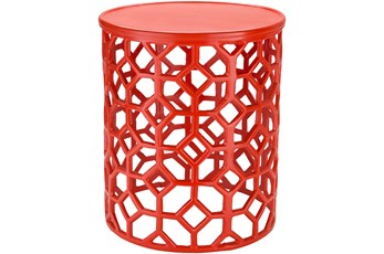Red Perforated Stool