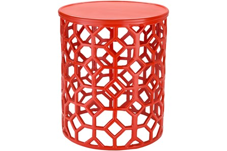 Red Perforated Stool - Main
