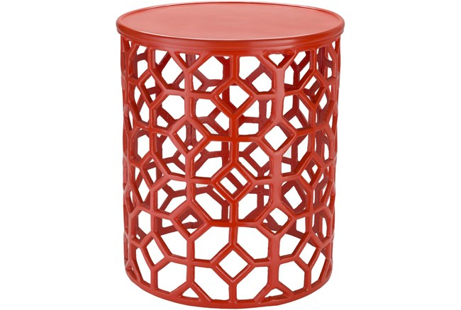 Red Perforated Stool - 360