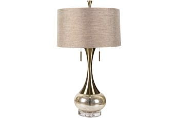 Table Lamp-Mercury Glass And Brass