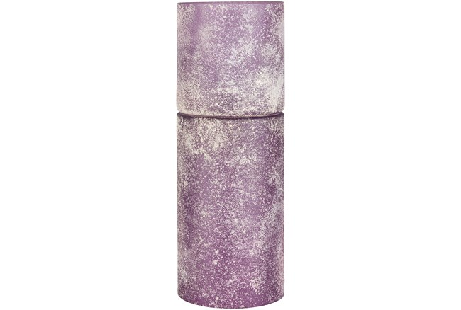 Table Lamp-Purple Frosted Cylinder - 360