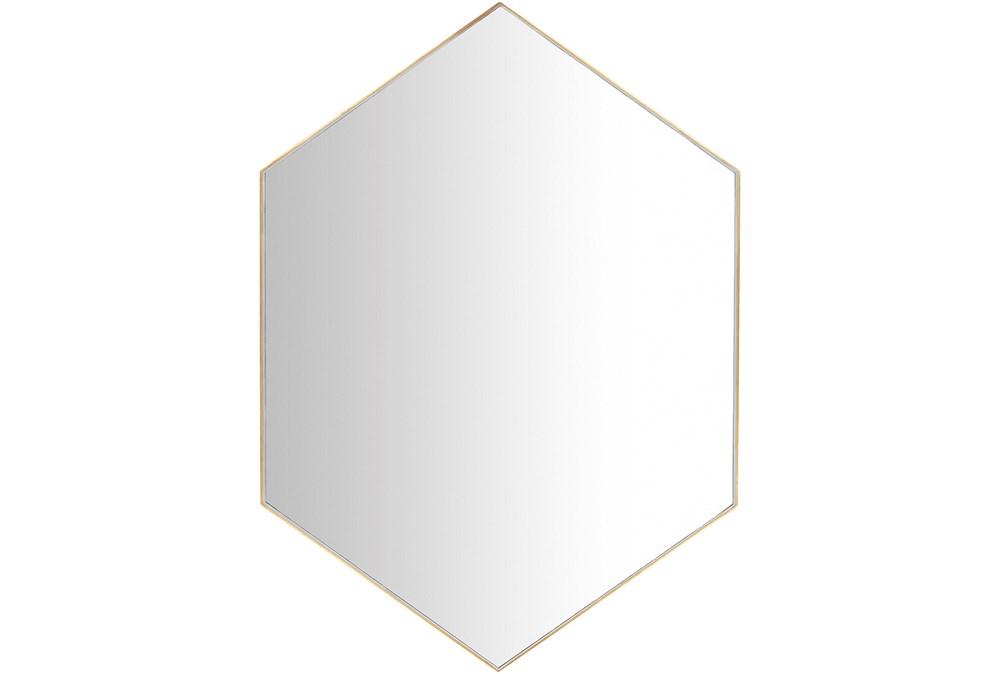 Mirror-Diamond Hand Gilded Gold 30X42