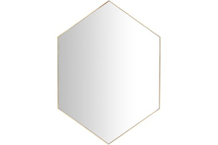 Mirror-Diamond Hand Gilded Gold 30X42