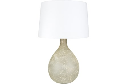 Table Lamp-Grey Frosted Glass