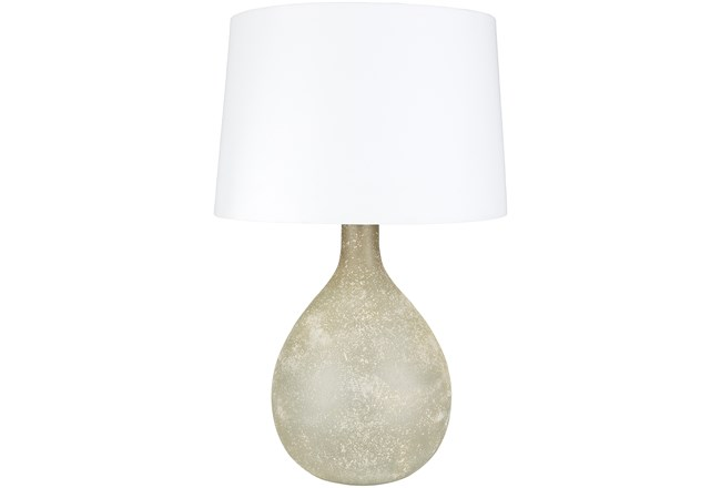 Table Lamp-Grey Frosted Glass - 360