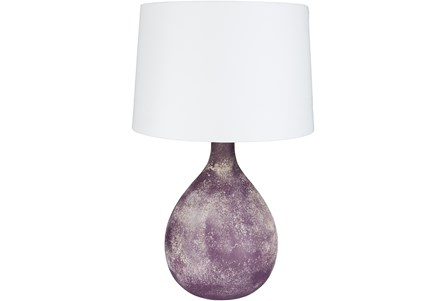 Table Lamp-Purple Frosted Glass