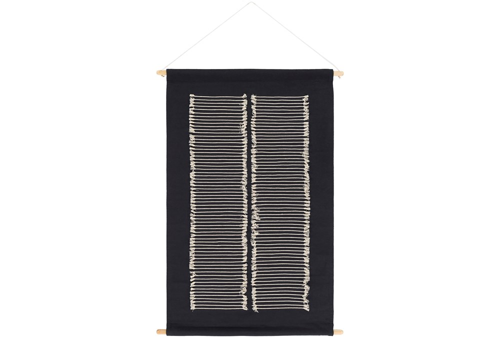 Wall Hanging-Hand Embroidered Black 24X36