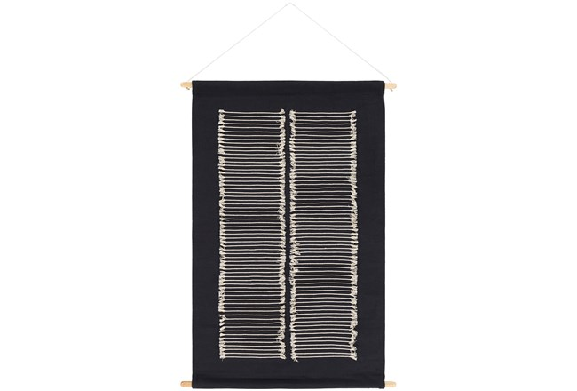 Wall Hanging-Hand Embroidered Black 24X36 - 360