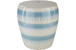 Light Blue Drip Stripe Stool