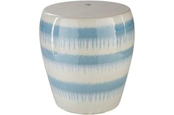 Light Blue Drip Stripe Stool