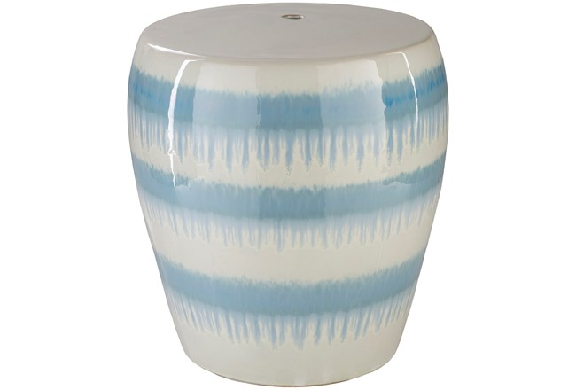 Light Blue Drip Stripe Stool - 360