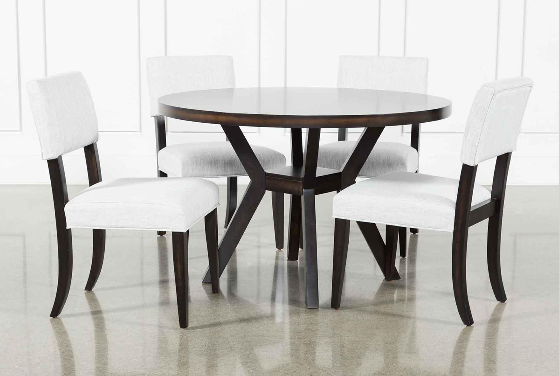 & Macie Black 5 Piece Dining Set | Living Spaces
