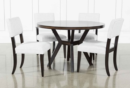 Macie Black 5 Piece Dining Set