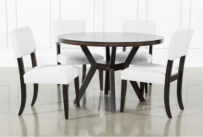 Macie Black 5 Piece Dining Set Living Spaces